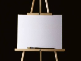 art canvas and easel