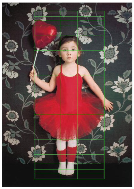 Ballerina C with golden ratio lines