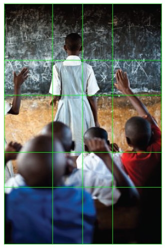 classroom photo showing golden ratio composition