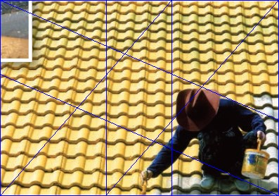 Man on roof showing golden ratio composition