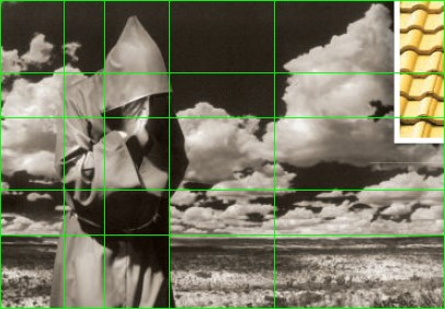 Photo of monk composed with golden ratio